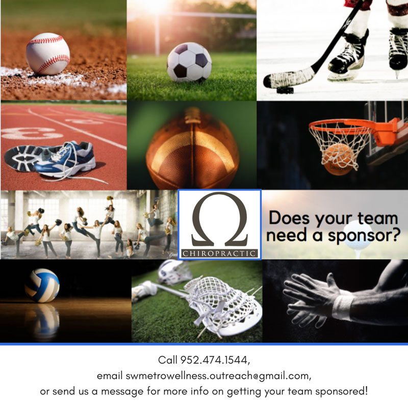 Sponsorships by Omega Chiropractic in Chanhassen MN